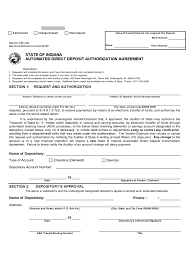 Employee Direct Deposit Authorization Agreement Direct Deposit Form 63 Free Templates In Pdf Word Excel