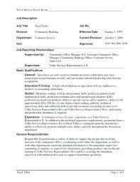Resume For Bank Teller Skill Resume Bank Teller Resume Sample Ideas