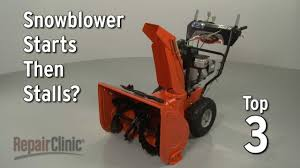 Snowblower Starts Then Stalls? — Snowblower Troubleshooting - YouTube
