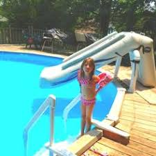 in ground pools with slides. Traditional Outdoor With Above Ground Inflatable Pool Slides, And Wooden Swimming Coping Ideas. In Pools Slides G