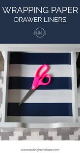 Easy to use and clean. How To Make Drawer Liners With Wrapping Paper