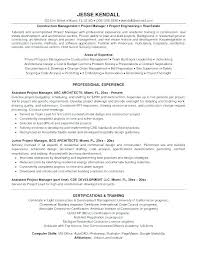 Construction Assistant Project Manager Resume Good Project Management Resume Sample Or Samples New 3 4
