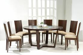 solid wood contemporary dining room sets with round dining table