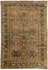 wool vintage mahal persian rug with modern traditional style for