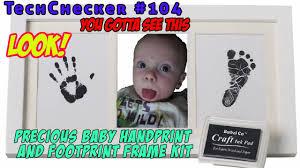 techchecker 104 bubzi precious baby handprint and footprint frame kit you