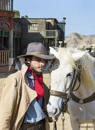photo art print cowboy with his horse at the western town at mini hollywood tabernas almeria p europosters