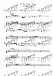 B Flat Baritone Finger Chart Brass Treble Clef Grade 3 Scales Arpeggios Abrsm Format For Solo Instrument Trumpet In Bb By Ray Thompson Sheet Music Pdf File To Download