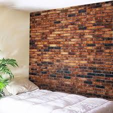 brick wall print tapestry wall hangings art decor brick red w79 inch l59 inch