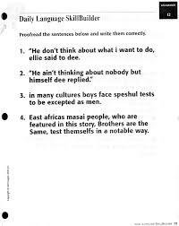Editing Sentences Worksheets for First Grade | Homeshealth.info