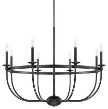 rylann 8 light chandelier matte black