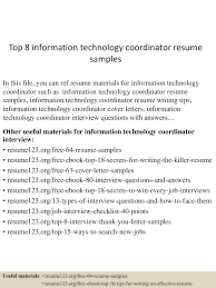 Information Technology Resume Sample top10000informationtechnologycoordinatorresumesamples10000lva100app61000092thumbnail100jpgcb=10010031003261000092 46