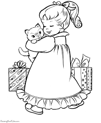 Small Picture Christmas coloring pages Christmas kitten