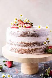 Strawberry Coconut Carrot Cake With Mascarpone Buttercream Half