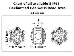 Genuine Swarovski 81961 Becharmed Edelweiss Crystal Beads