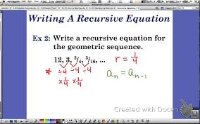 recursive equation for geometric sequences
