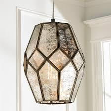 mercury glass lighting fixtures. young house love mercury glass prism pendant small lighting fixtures