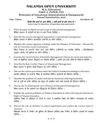 nalanda open university principles of educational administration  principles of educational administration management