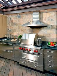 Outdoor Kitchen Cabinet Doors 10 Outdoor Kitchens That Sizzle Hgtv