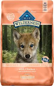 Blue Buffalo Wilderness Large Breed Puppy Chicken Recipe Grain Free Dry Dog Food 24 Lb Bag