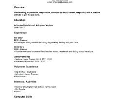 Resume For High School Student With No Experience Template Resume Template Noience Free Templates Students Sample For High 19