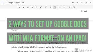 Googly Teacher Tip 3 Mla Format Google Docs Ipads