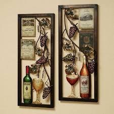 valley vineyard metal wall art set