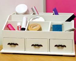 wooden makeup organizer for countertop style guru