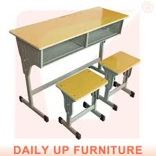 school desk and chair in classroom. Wonderful Classroom Two Seater School Desk U0026 Chair Classroom Bench Furniture Wooden Study Table  For Children In And N