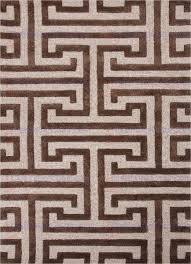 jaipur midtown raymond meandering maze hand tufted geometric pattern wool art silk taupe brown area rug