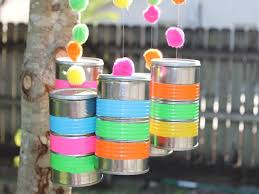 DIY Wind Chimes Made From Recycled Tin Cans