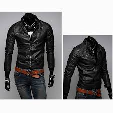 men s jackets slim short washed motorcycle men leather jacket martenvy fashion tictail