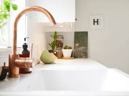 White Kitchen Sink Faucets White Kitchen Cabinets With Copper Sink Quicuacom