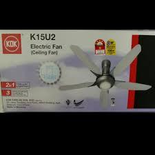 kdk k15u2 60 150cm ceiling fan with led light furniture on carou