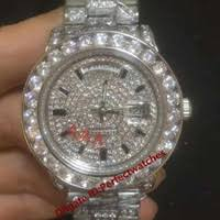 custom watches price comparison buy cheapest custom watches on luxury men s day date sweeping hand icedout big diamonds custom made gold luxury president day