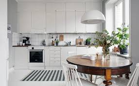 doing this will help define the kitchen area without losing the open plan feel of the room alvhem