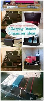 diy charging station organizer ideas for phones other electronics