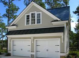 garage with office above. the classic detached garage with an apartment overheadu2026 office above s