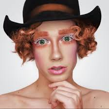 cover new male face makeup artist insram