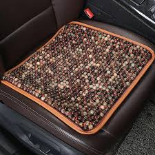 universal summer natural wood beads car seat cover cushion auto interior styling accessories 45cm x 45cm brown car seat padded cushion car seat padding from