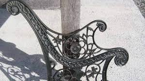to re a cast iron garden bench