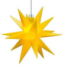 3d Led Stern Gelb ø 12 Cm Weihnachtsstern Ministern Außen Stern Klein Leuchtstern Fenster Deko Für Innen 5m Kabel Von Dekowelt Gelb