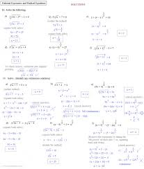 foxy solving radical equations with rational exponents worksheet properties of evaluate the expression rational exponents and
