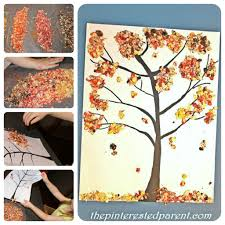This bundled Q-tip fall tree painting is a fascinating and easy way for kids