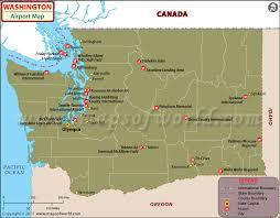 Washington State Mileage Chart Airports In Washington State Washington Airports Map
