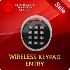 ARA Garage Door and Gate Wireless Keypad Entry, 433 Mhz ...