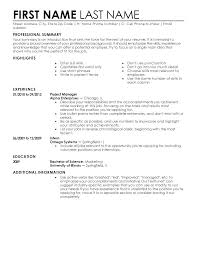 Resume Template For Job Sample Professional Resume