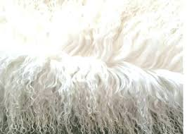 grey mongolian faux fur rug 6 x 8 lamb black sheepskin natural long hair lambskin cream