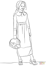 Pilgrim Girl Coloring Page Free Printable Pages Of Pilgrims We Are
