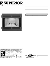 superior br 36 2 indoor fireplace user manual