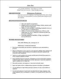 Industrial Maintenance Mechanic Sample Resume Maintenance Mechanic Resume Examples Examples of Resumes 14
